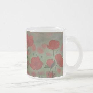 Taza campo de flor de amapola