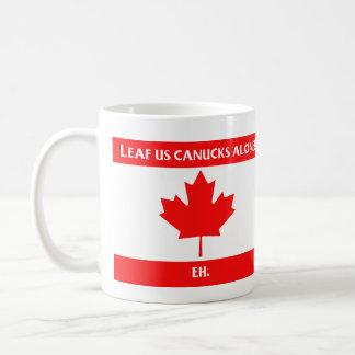 Taza canadiense de la hoja