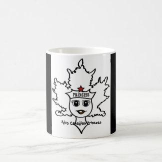 Taza canadiense de la princesa del Afro