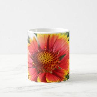 Taza candente de la flor