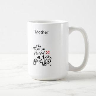 Taza Caofline de la madre la vaca