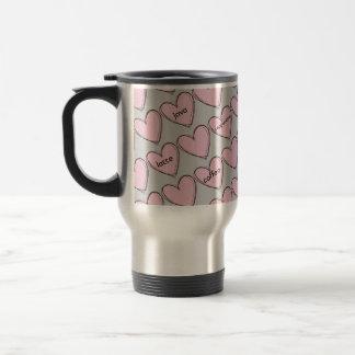 Taza caprichosa del viaje de los corazones del caf