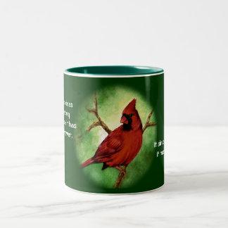 Taza cardinal roja