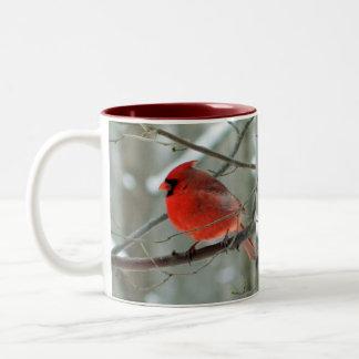 Taza cardinal roja alegre