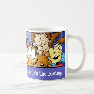 Taza cariñosa de los días de fiesta de Garfield