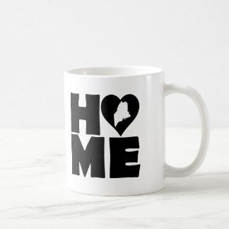 Taza casera del estado del corazón de Maine o taza