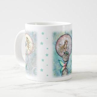 Taza celestial del jumbo de tres sirenas taza grande