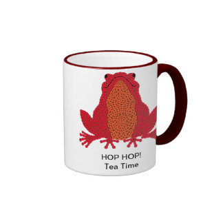 Taza céltica de la rana - rojo