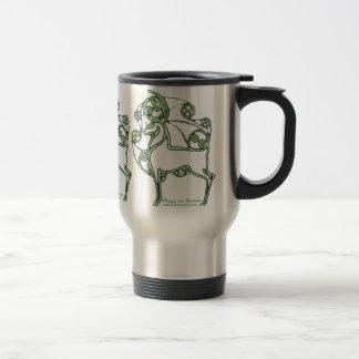 Taza céltica, diseño de los ciervos de Herne