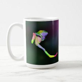 Taza cerosa gigante del mono del arco iris