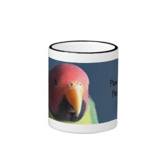 taza Ciruelo-dirigida del Parakeet