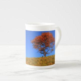 Taza clara de la especialidad del día del otoño taza de porcelana