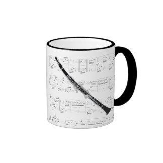 Taza - Clarinet con partitura