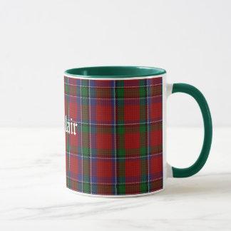 Taza clásica de encargo de la tela escocesa de