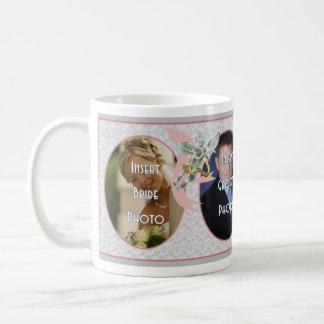 Taza clásica de las memorias del boda