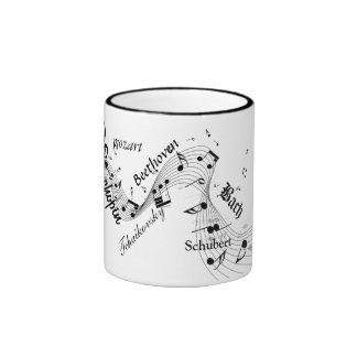 taza clásica de los compositores