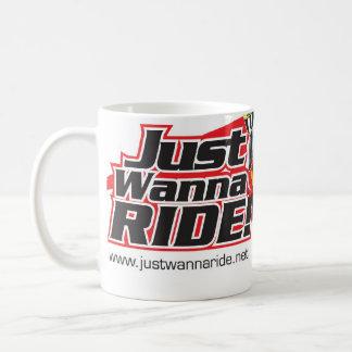 Taza clásica del logotipo de JustWannaRide