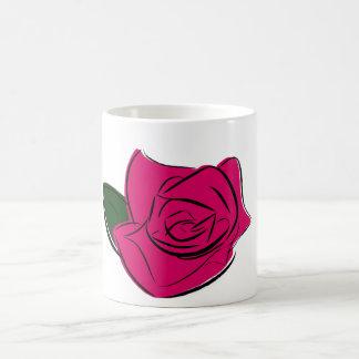 Taza color de rosa abstracta del |