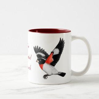 Taza color de rosa adaptable del pájaro del pájaro