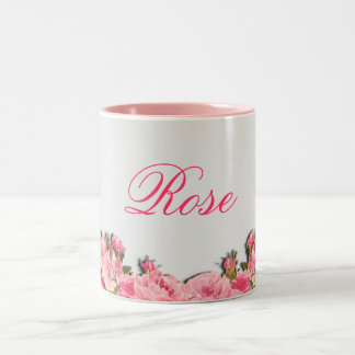 Taza color de rosa de Coffe