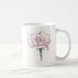 Taza color de rosa de la diosa