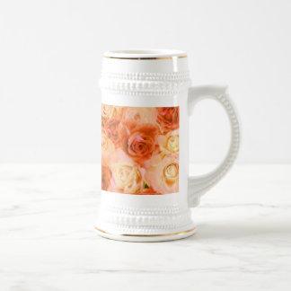Taza color de rosa hermosa