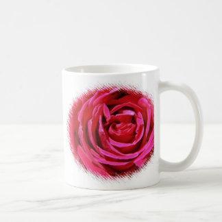 Taza color de rosa marrón del boda