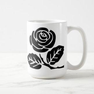 taza color de rosa negra del anarquista