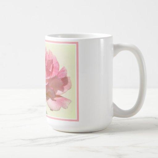Taza color de rosa rosada