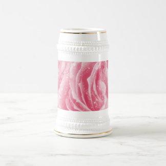 Taza color de rosa rosada chispeante de Stein