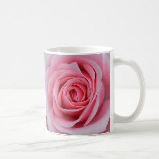 Taza color de rosa rosada de la foto de I