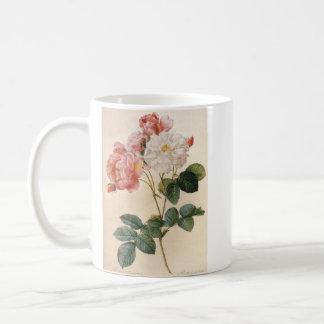 Taza color de rosa rosada del vintage