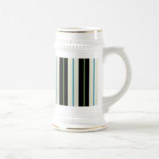 taza coloreada de las rayas