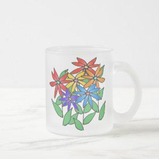 Taza coloreada multi del grupo de la flor