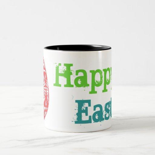 Taza colorida 4 de los huevos de Pascua