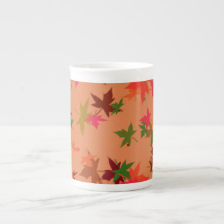 Taza colorida de la porcelana de hueso del diseño taza de porcelana