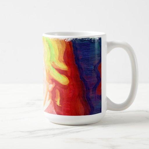 Taza colorida de Mozart