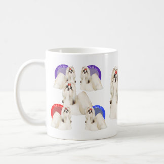 Taza colorida de Shih Tzu