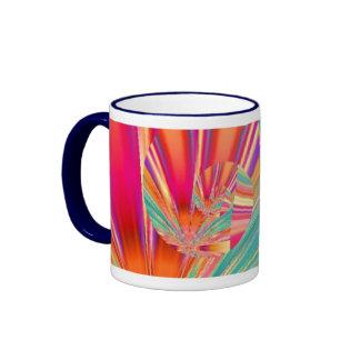 Taza colorida del arte del fractal