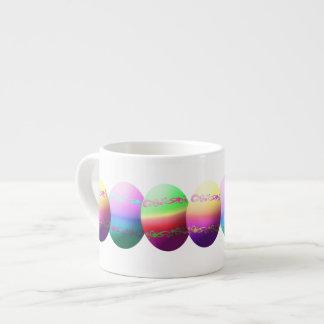 Taza colorida del café express de los huevos de taza espresso