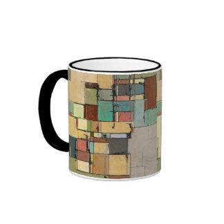 Taza colorida del campanero del arte abstracto del