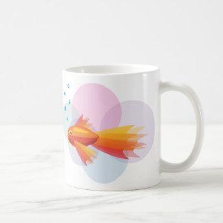 Taza colorida del Goldfish