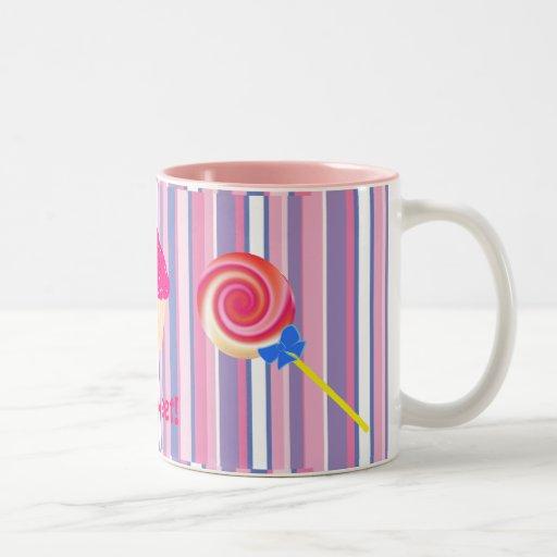 Taza colorida del Lollipop del remolino