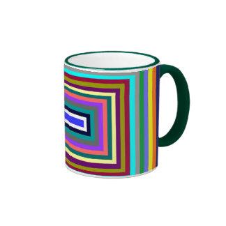 Taza colorida del rectángulo