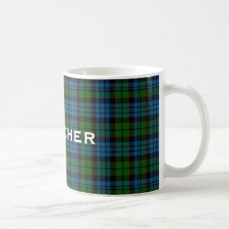 Taza colorida elegante de la tela escocesa de