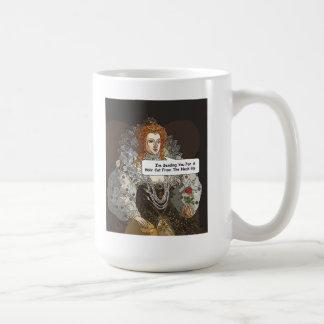 Taza cómica de la reina Elezabeth I