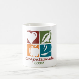 taza compasiva del logotipo de los cocineros