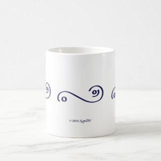 Taza compasiva púrpura del símbolo de SymTell