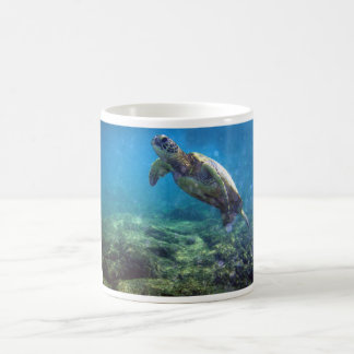taza con diseño de la tortuga de mar
