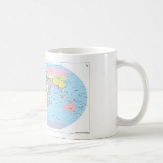 Taza con el mapa del mundo